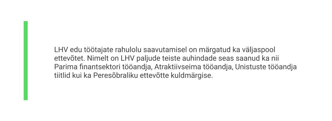 Liisa Põldma arvamus, miks LHV on populaarne tööandja